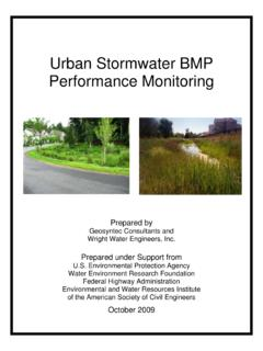 Urban Stormwater BMP Performance Monitoring