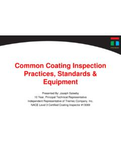 Common Coating Inspection Practices, Standards & …