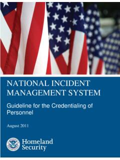 NATIONAL INCIDENT MANAGEMENT SYSTEM - FEMA.gov