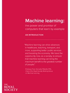Machine learning: an introduction - Royal Society