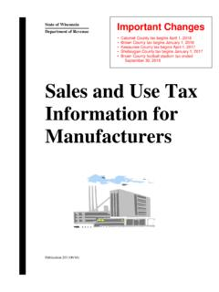 Pub 203 Sales and Use Tax Information for …
