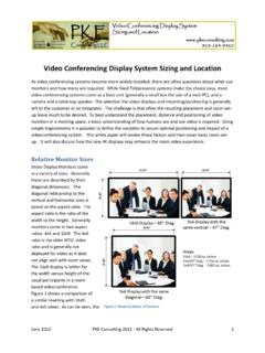 Video Conferencing Display System Sizing and Location
