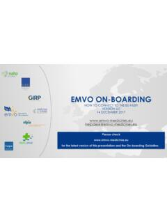 EMVO 0086 OBP On-Boarding Presentation