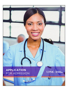 APPLICATION FOR ADMISSION - University of …