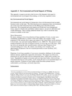 Appendix 2: Environmental and Social Impacts of …