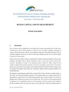 HUMAN CAPITAL AND ITS MEASUREMENT - oecd.org
