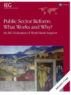 Public Sector Reform: What Works and Why? - World Bank