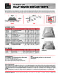 CMI PRODUCT DATA HALF-ROUND DORMER VENTS