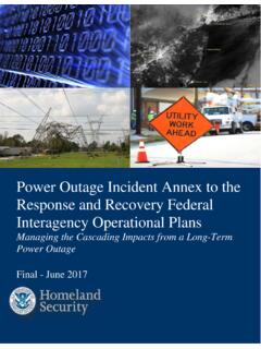 Power Outage Incident Annex to the Response and …