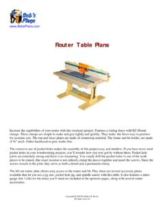 Router Table Plans - Bob's Woodworking Plans - BobsPlans.com