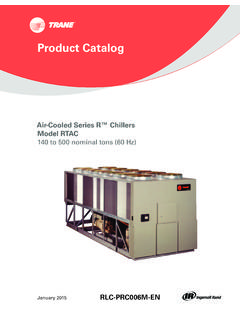 Air-Cooled Series R Chiller / Model- RTAC 140 to 500 ...