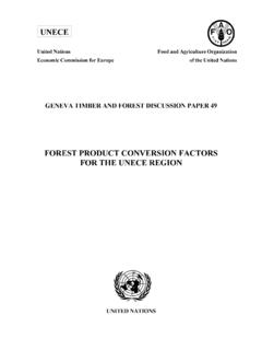 FOREST PRODUCT CONVERSION FACTORS FOR THE UNECE …