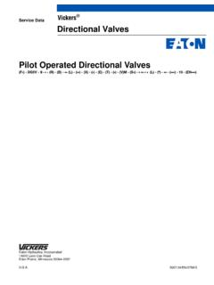 Service Data Vickers Directional Valves Pilot Operated ...
