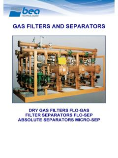 GAS FILTERS AND SEPARATORS - bea-italy.com