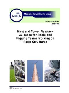 Mast and Tower Rescue – Guidance for Radio and Rigging ...