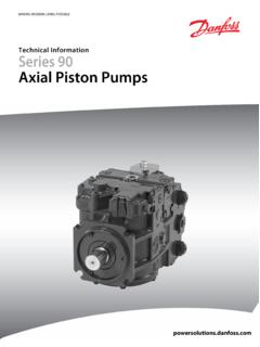 Series 90 Axial Piston Pumps Technical Information Manual