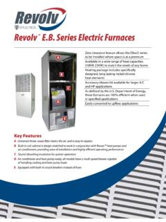 Revolv E.B. Series Electric Furnaces - Winfield Supply Inc.