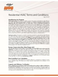 Residential HVAC Terms and Conditions - OPPD