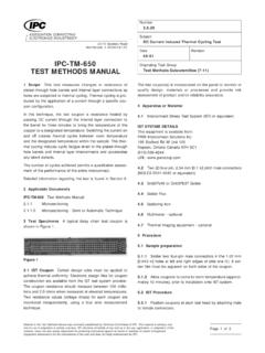 IPC-TM-650 TEST METHODS MANUAL