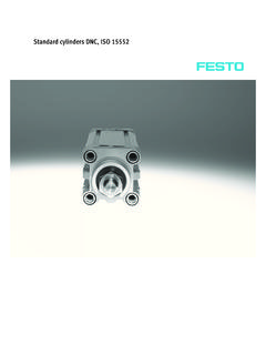 Standard cylinders DNC, ISO 15552 - Festo USA