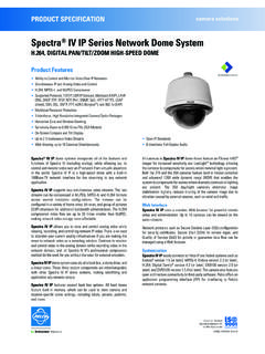 Pelco Spectra IV IP Series Network Dome Camera System