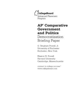 AP Comparative Government and Politics Democratization ...
