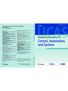 International Journal of Control, Automation, and …