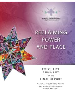 RECLAIMING POWER AND PLACE - mmiwg-ffada.ca