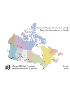 Directory of Residential Schools in Canada Répertoire des ...