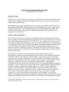 University of Virginia Resolution Agreement - …