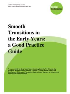 Smooth Transitions in the Early Years: a Good …