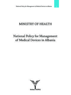 Ministry of health national Policy for Management …