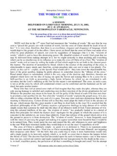 #1611 - The Word of the Cross - Spurgeon Gems - C. H ...