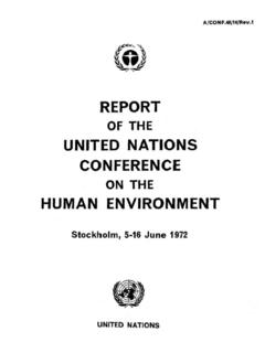 Report of the United Nations Conference on the …