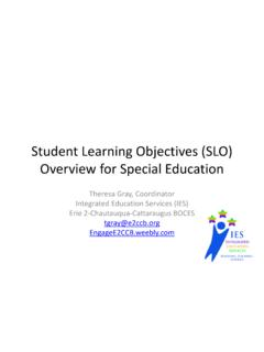 Student Learning Objectives (SLO) Overview for Special ...