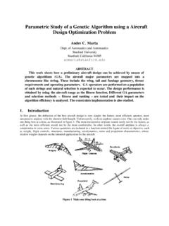 Parametric Study of a Genetic Algorithm using a Aircraft ...