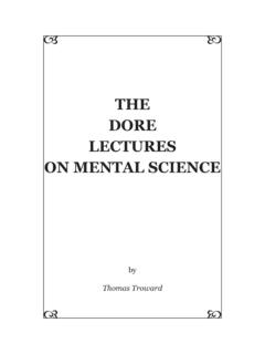 Thomas Troward - The Dore Lectures on Mental Science