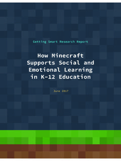 How Minecraft Supports Social and Emotional Learning in K ...