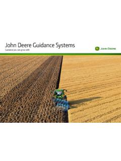 John Deere Guidance Systems