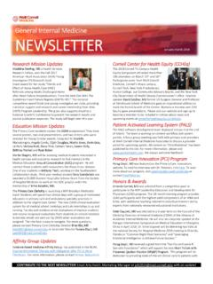 Division of General Internal Medicine Newsletter