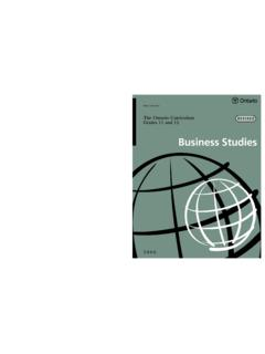 Business Studies - Ministry of Education
