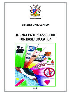 THE NATIONAL CURRICULUM FOR BASIC …