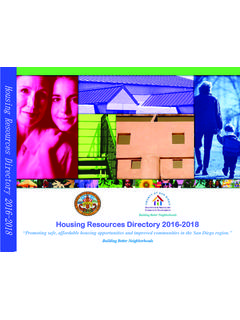 Housing Resources Directory 2016-2018