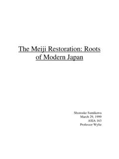 The Meiji Restoration: The Roots of Modern Japan