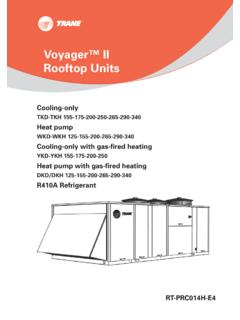 Voyager™ II Rooftop Units - Heating and Air Conditioning ...