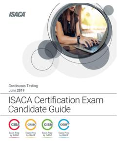 ISACA Certification Exams Candidate Guide