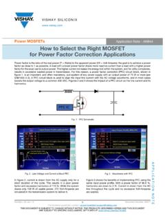 How to Select the Right MOSFET for Power Factor …