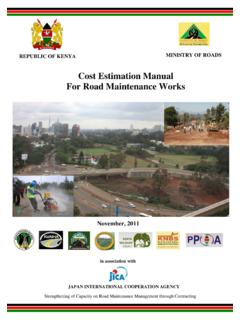 01 revised Cost Estimation Manual for Road Maintenance ...