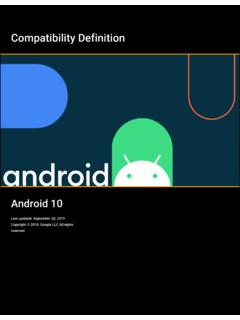 Android 10 Compatibility Definition