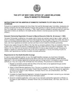 THE CITY OF NEW YORK OFFICE OF LABOR RELATIONS …